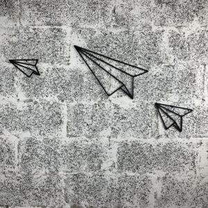 sculpture plane origami avions