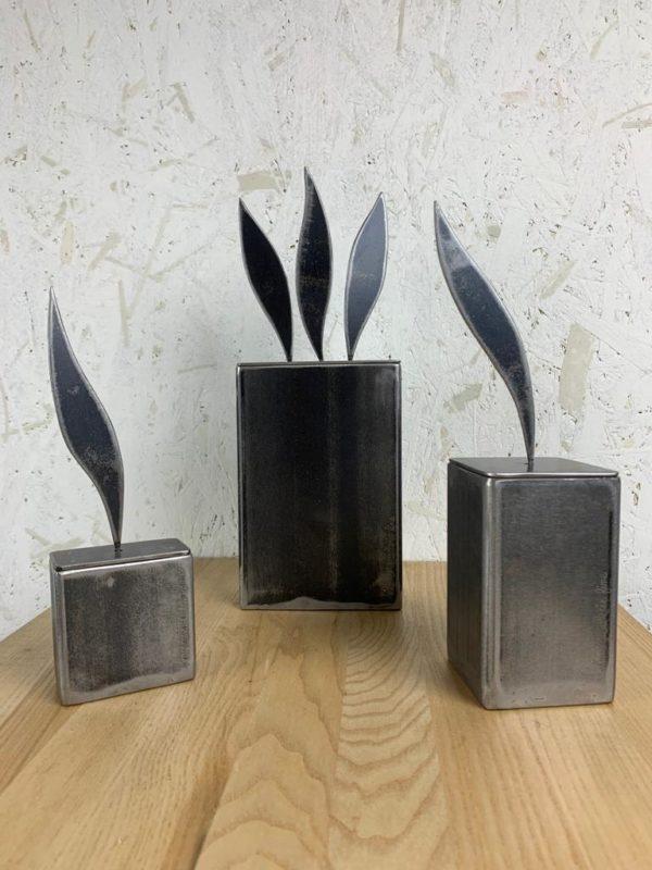 Boîte métal LMF sculpture flamme molotov