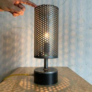 Gala lampe tactile métal perforé projection LMF