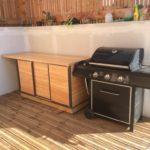 cuisine d été placard extérieur métal bois portes coulissantes LMF 1