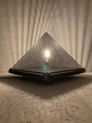 lampe tactile metal de sol roulette